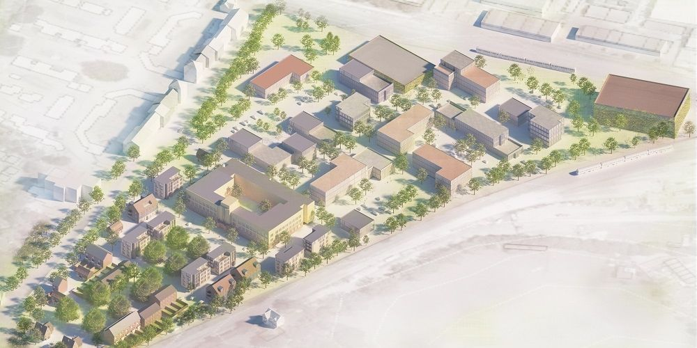 A CGI image of the Horsham Enterprise Park development